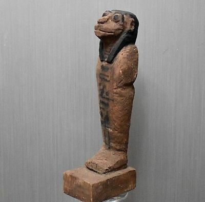 ANCIENT EGYPT ANTIQUE  EGYPTIAN  Wood Sekhmet statue (1500–300 BC)
