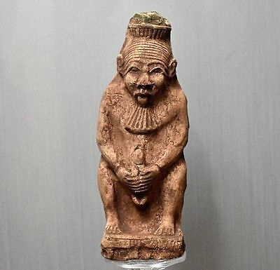 ANCIENT EGYPT ANTIQUE  EGYPTIAN  BES stone Statue (300-1500 BC))