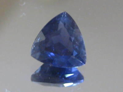 IOLITE, 1.15ct top quality Natural purple Iolite gem, 7.15 x7.1 mm trillion cut