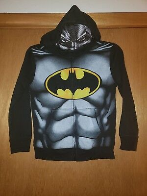 Boys Batman Hooded Mask Sweatshirt Large (8)