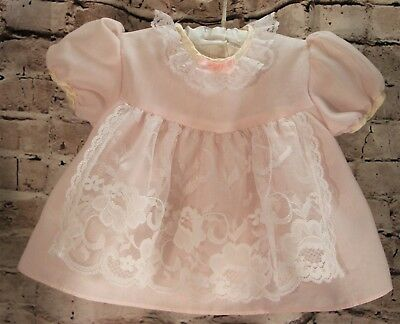 Vintage Allison Ann Baby 2-Piece Outfit Infant Size 0-3 Months Short Sleeve Pink