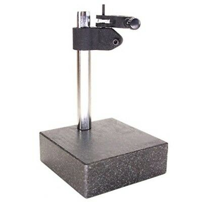 """HFS R Granite Surface Check Comparator Stand Plate 6'' X 6'' X 2'' Base 10"""" Col."""