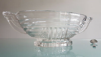 ART DECO CLASSIC DESIGN FRUIT BOWL 32cm LONG.  IN EXCELLENT CONDITION !