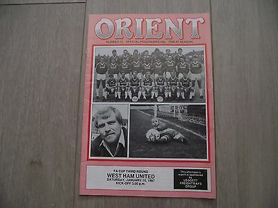 1986-87 Leyton Orient v West Ham United - F.A. Cup Round 3