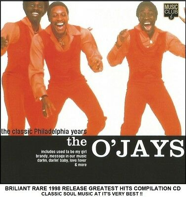 The O'Jays - The Very Best Greatest Hits Collection RARE 1998 CD 70's Soul Music