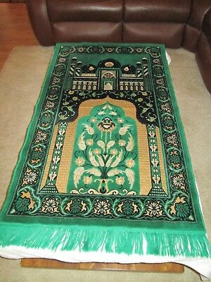 Vintage Turkish Prayer Rug 1970/s Green