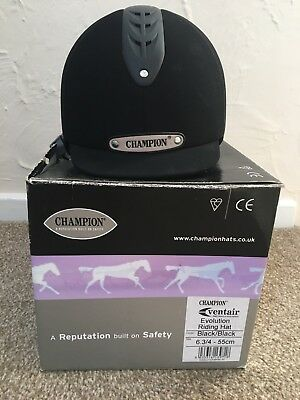 Champion Ventair Evolution riding hat 6.3/4 55cm Black/Black