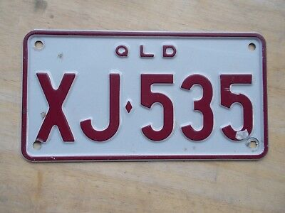 License plate Number plate QLD  MOTORCYCLE