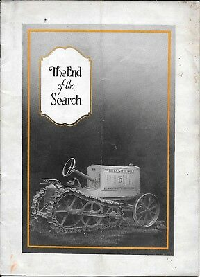 THE BATES STEEL MULE MODEL D TRACTOR CATALOG 1920's