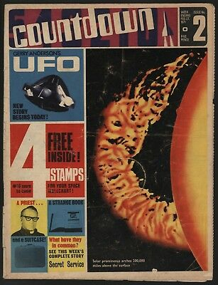 Countdown #2  Dr Who, Thunderbirds, Joe 90 & Ufo In Colour - Great Comic!