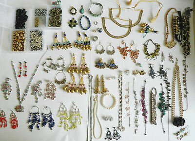 Job lot of Mixed Jewellery & Beads Modern & costume jewellery / Indian & vintage