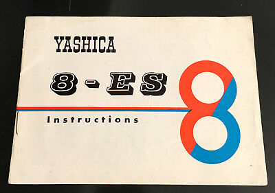 Original YASHICA 8-ES Instruction Booklet