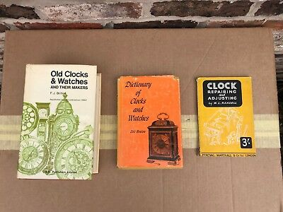 Three Old Clock Books Including Old Clocks And Watches By F. J. Britten