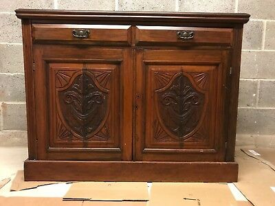 Dark Wood Antique Sideboard