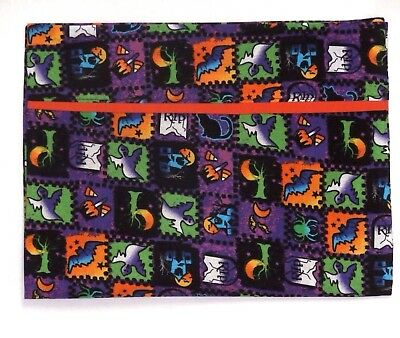Halloween Toddler Pillowcase on Ghost&Bats multi-color Cotton 23-9 New Handmade