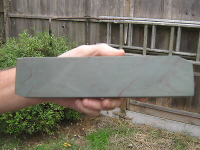 Large Natural Charnley Forest Sharpening Stone In Wooden Base