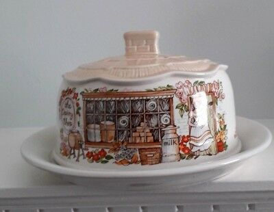 Sadler The Dairy Shop Butter/cheese Dish & Dome Mint