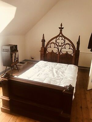 Antique Gothic French bed