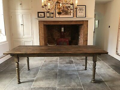 Stunning Large Antique Refectory Dining Table
