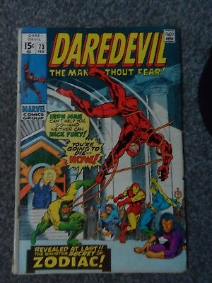 DAREDEVIL # 74 - (1st Brotherhood of Ankh) - VERY GOOD CONDITION - 1971