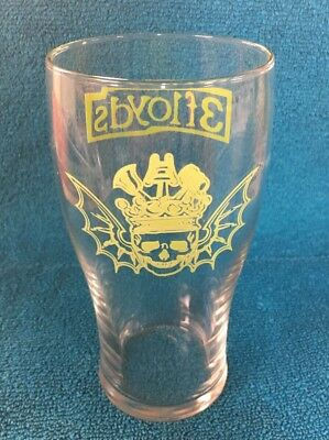 3 Floyds Lime Green Beer Pint Glass Set of 2 Bar Man Cave