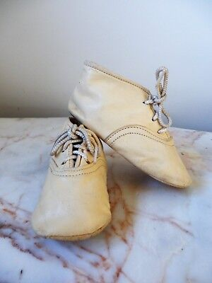 Vintage Kid Leather Baby Small Children's Shoes Boots