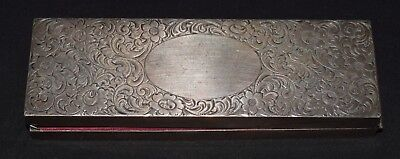 American engraved sterling silver box, Sweetser & Co., New York, circa 1910