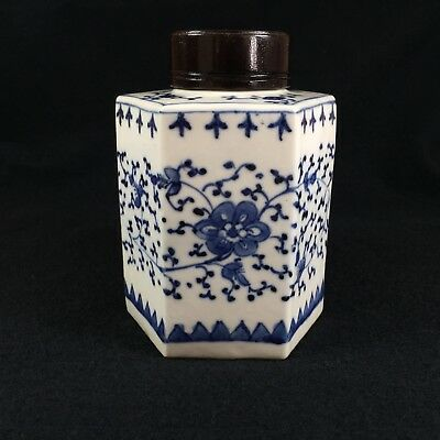 Antique Chinese Porcelain Tea Caddy Jar. Late 18Th Or 19Th Century. Pristine.