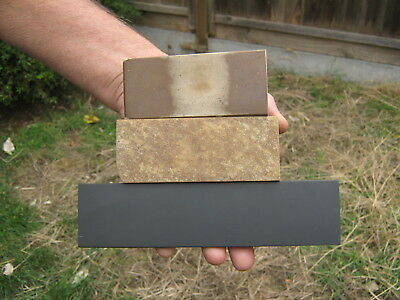 3 Natural Sharpening Stones : -  Hindostan, Washita & Welsh Slate