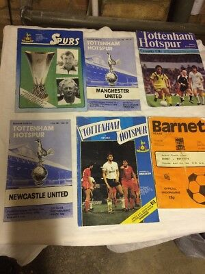 Selection Of Vintage Football Programmes All In Good Condition