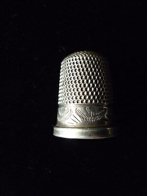 Antique White Metal Thimble No Hallmark Possibly French Silver