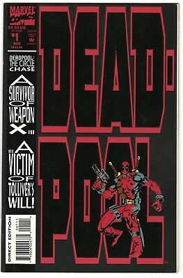 Deadpool #1 VF/NM (Aug 1993, Marvel) The Circle Chase. First Solo Deadpool Comic
