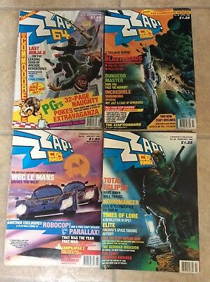 4 X ZZAP Magazines 80s issues 41-45-46&48 see pictures for detail