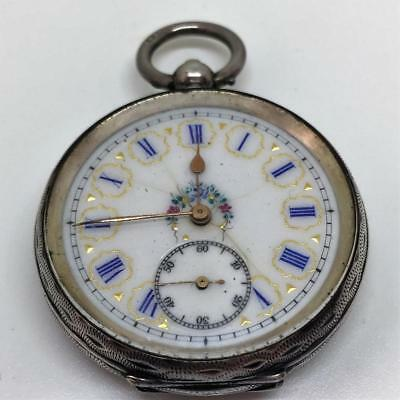 Vintage/Antique Revue solid Silver case Fob-Pocket watch for parts-spares-repair