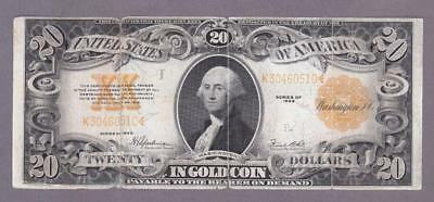 1922 $20 HISTORIC GOLD SEAL GOLD COIN CERTIFICATE!        x7a