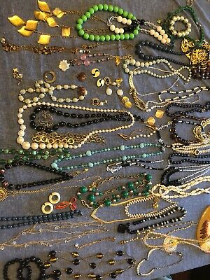 Nice Vintage Estate Costume Jewelry Lot, 1928 Marcella, Over 50 Pieces!