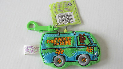 Scooby Doo The Mystery Machine Coin Purse Key Chain ~ Green Embroidered Plush~