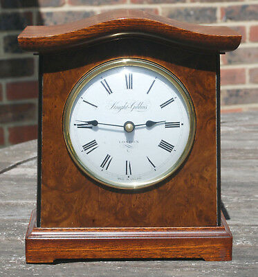 Vintage Knight & Gibbins London Mahogany & Walnut Mantle Clock
