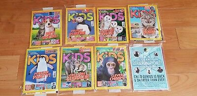 8 National Geographic Kids subscribers copies 7 Sealed. 2016, 2017, 2018