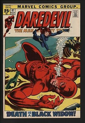 Daredevil #81 Giant Size Issue With Black Widow High Grade! White Pages Beauty
