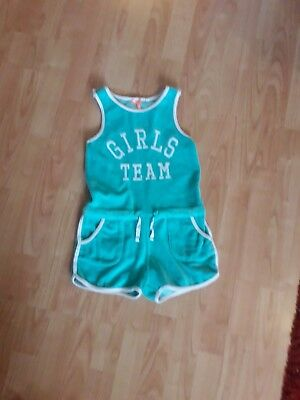 Girls Next Green Velour Playsuit Shorts 6 Years