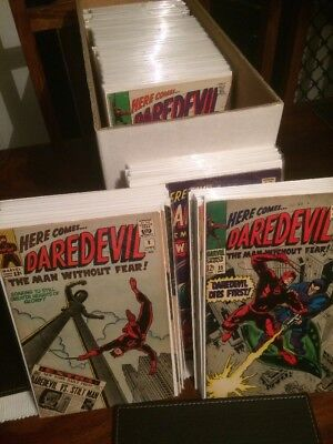 757 Daredevil Comics.13 Comics Short of Complete 1st Series. Complete Series 2-5