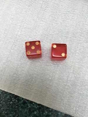 Vintage Red Dice 5's and 2's