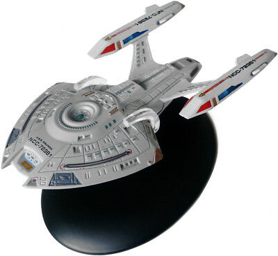 #15 Star Trek USS EQUINOX Die-Cast Metal Ship-UK/Eaglemoss w Mag-