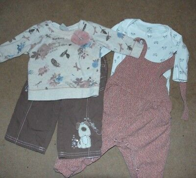 BABY GIRL BUNDLE ~ 6-9 months ~ Dungarees Top Trousers - NEXT Outfits