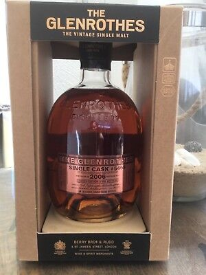 GLENROTHES SINGLE CASK # 5465 / 66,8% / only 605 bottles /UK EXCLUSIVE BATCH #1