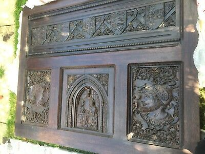 Super King Knight & Lady Solid Oak Four Poster Full Tester Bed Henry Viii Tudor