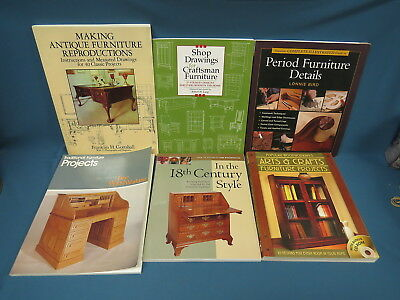 Lot of 6 Books Furniture Woodworking Antique 18th Cent Arts & Crafts Traditional