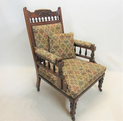 Exquisite Edwardian Art Nouveau Throne Chair . REFURBISHED - DELIVERY AVAILABLE