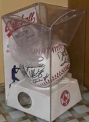 MLB BOSTON RED SOX Autographed Baseball Autoball Collection - Original Packaging
